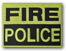 Reflective Fire Police Patch
