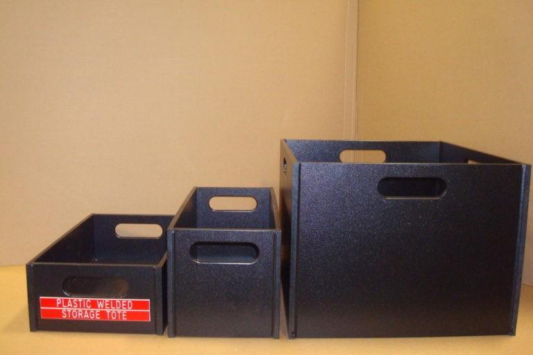 Sensible Produces Black Poly Storage Boxes