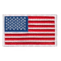 0005HP US Flag Patch White Border
