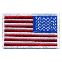 0039 US Flag Patch White Border Reverse