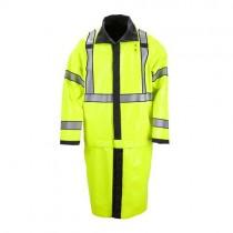 5.11 Tactical Long Rev Hi-Vis Rain Coat  Hi Vis Yellow Side