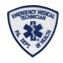 Heros Pride 5340 Emergency Medical Technician PA DEPT OF HEALTH EMT Shoulder Patch, 3-3/4x3-3/4