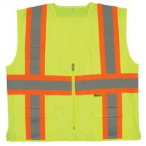 Class 2 Safety Vest With Contrasting Stripes