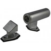CHR55Z0, Crowbar Holder Set Raised Style Chrome Plated Zinc