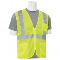 S363P Zipper Economy Mesh Vest Class 2 Lime