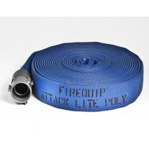 """1-3/4 with 1-1/2"""" Couplings Attack Lite Poly Hose Blue"""