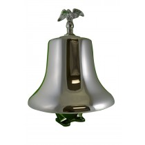 FB-1210C FB12, 12 inch Fire Bell Brass Chrome Plated with Stand, Clapper, Eagle Bolt, and Chrome Eagle