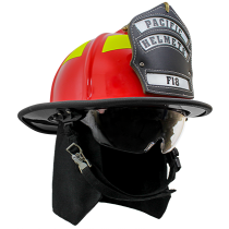 Pacific Helmet F-18 Traditional Style Structural Firefighting Helmet