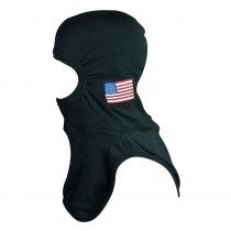 P84 HOOD with AMERICAN FLAG BLACK