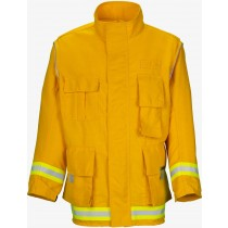 Lakeland Wildland Fire Coat 6 oz. Yellow Nomex Front