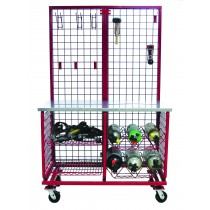 WORKTABLE SYSTEM CART– WT-2W-2424  with optional WBP-2W Back Panel