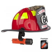 Helmet with light lowered