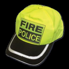 Hi Viz Fire Police Baseball Cap with Black Brim