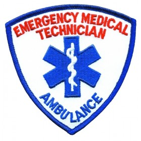 5291 EMERGENCY MEDICAL TECHNICIAN AMBULANCE Shoulder Patch