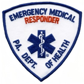 5309 PA DEPT OF HEALTH EMERG MED RESPONDER Shoulder Patch  3-3/4x3-3/4