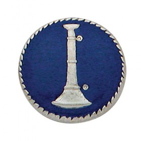 Smith & Warren C181B Single Bugle Badge Blue Background