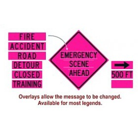 """Dicke Safety SIGN PANELS FOR 36"""" DF3000X Series (Pink Signs)"""