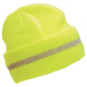 Knit Cap - Sock Hat Lime OSFA