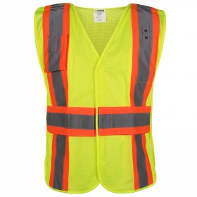 VAMOSC2GBVL Lakeland Public Safety Vest 5 Point Break Away All Velcro - Mesh